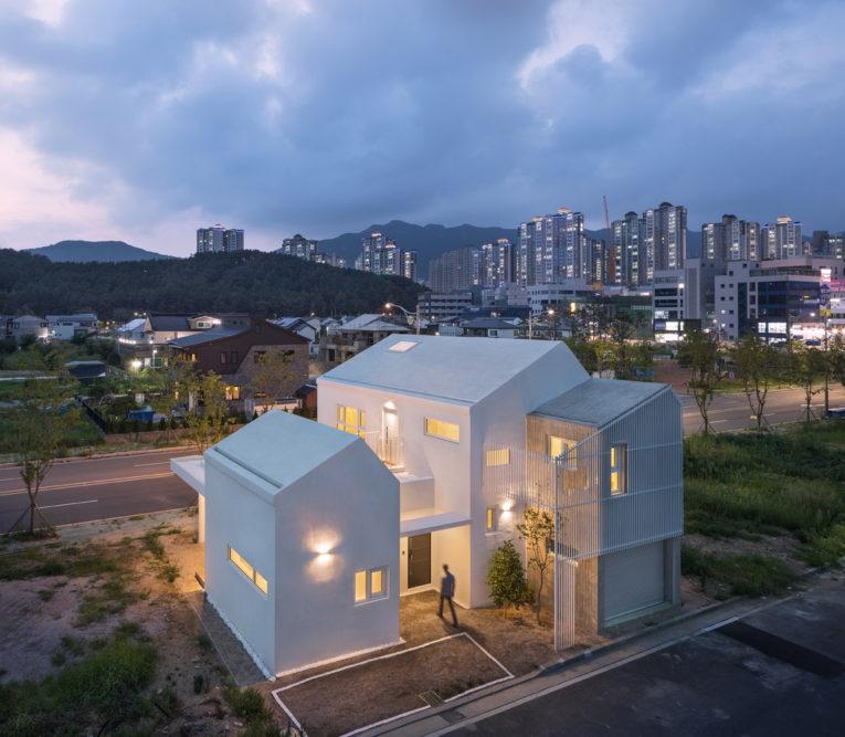 Ngôi nhà màu trắng của YANGSAN-SI Hàn Quốc