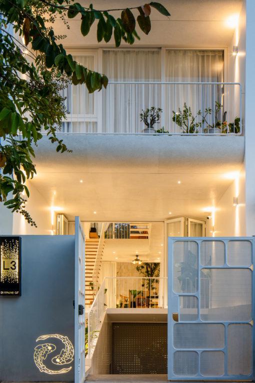 Ngôi nhà màu trắng và những đường cong siêu đẹp